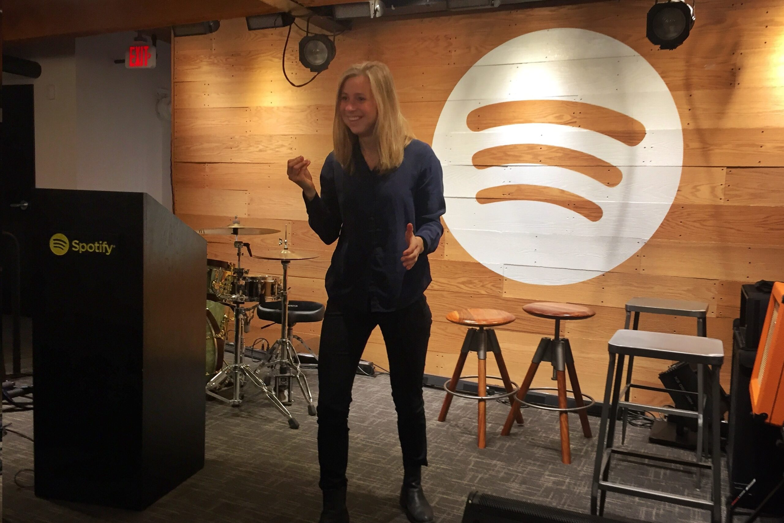 Our Key note Speaker Malin Rapp at Spotifys Headquarter